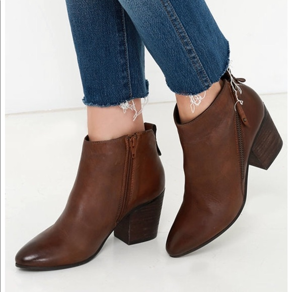 a0e30cce3fb Steve Madden Cognac Jaydun Ankle Booties Size 7.5